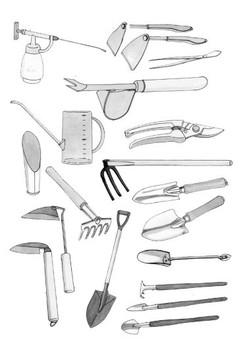 插圖切割園藝的材料收藏
