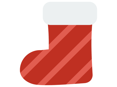 Red striped Christmas stocking decoration