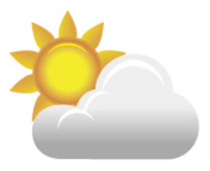 模糊的陽光明媚的天氣
