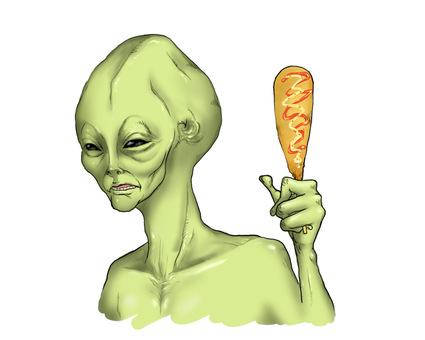 外星人與玉米狗
