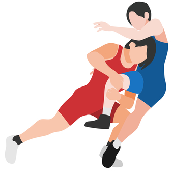 Silhouette wrestling women's tackle