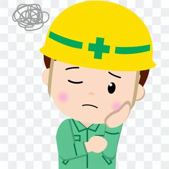 Construction worker _ upper body (worrying)