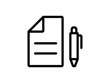 Document and pen icon
