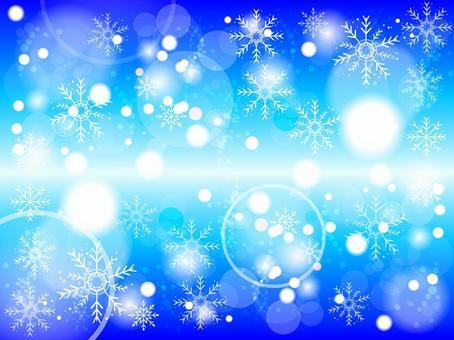 冬天雪水晶背景161031