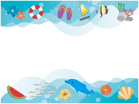 Summer tropical sea background