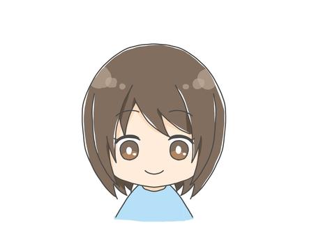 Cute girl icon