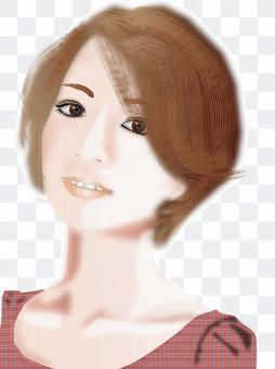 短髮女人03