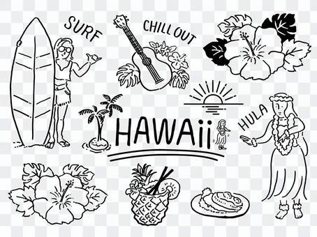 熱帶心情圖set_Hawaii