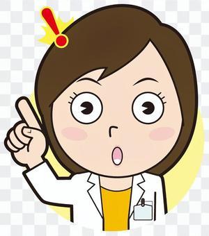 Fingering female doctor (inspiring)