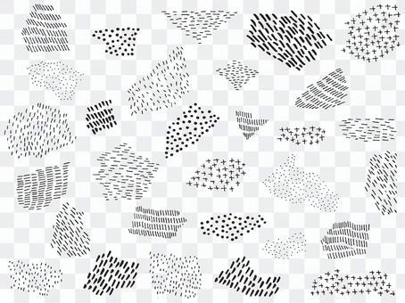 手繪線和點材料集