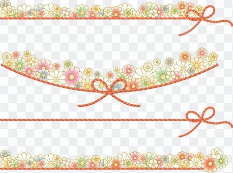 菊花和梅花,串線