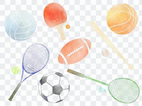 體育水彩圖標