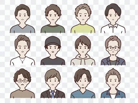Various men set Colored