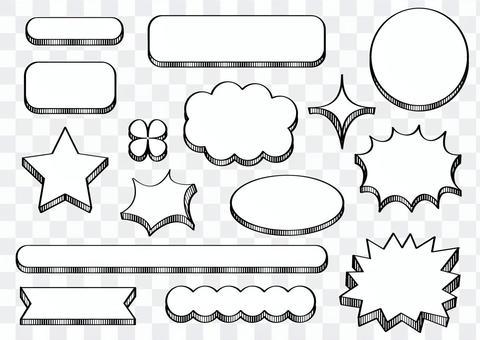 Black and white _ Handwritten frame _ 1
