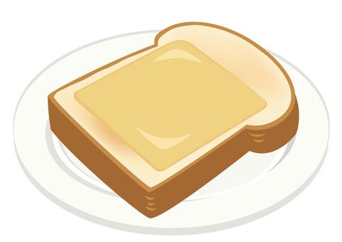 餐食★西餐插畫芝士吐司
