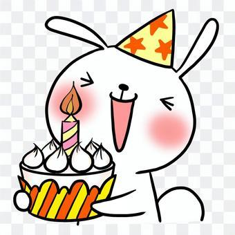 生日生日蛋糕兔子