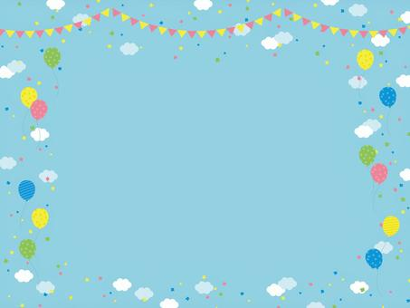 天空雲氣球背景