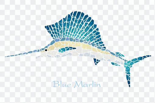 Mosaic art Blue Merlin
