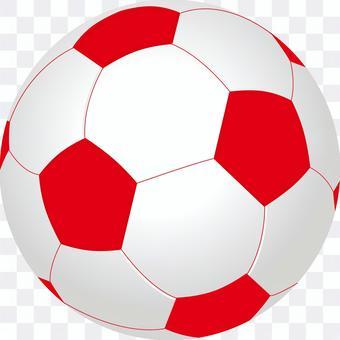 サッカーボール 赤色