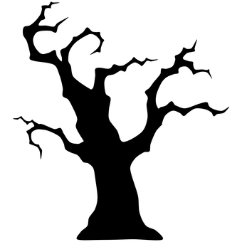 Creepy tree silhouette