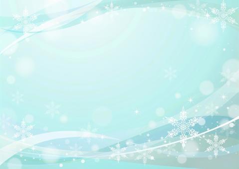 Snow Crystal Frame Ice Blue