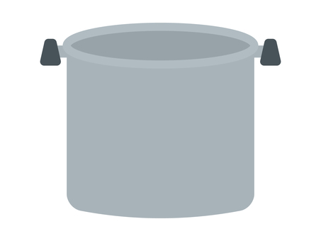 Illustration of a simple and cute pan