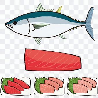 金槍魚全身魚片刺身