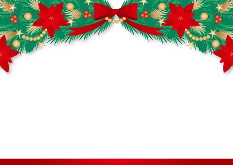 聖誕花環白色背景框架
