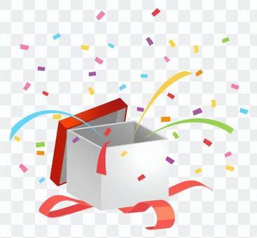 禮物盒·五彩紙屑