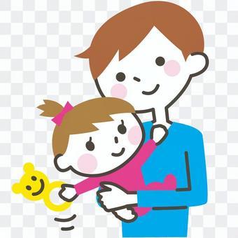 育兒的父母和孩子