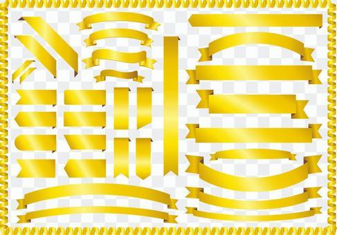 金絲帶材料框架背景框架絲帶黃金