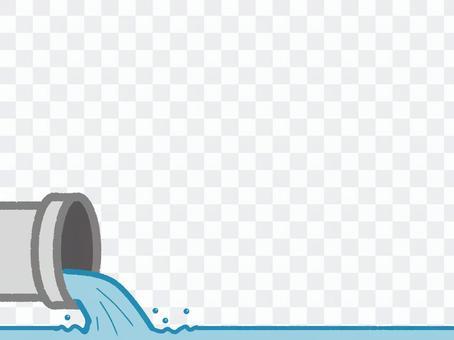 水人造瀑布污水處理廠日常生活用渡槽