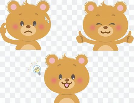 Bear_3 facial expressions