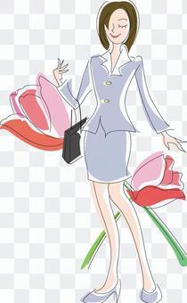 鲜花和女人