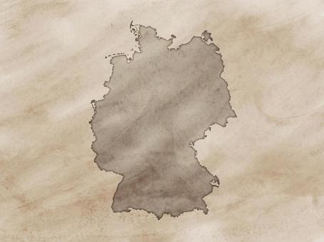 德國地圖老地圖樣式