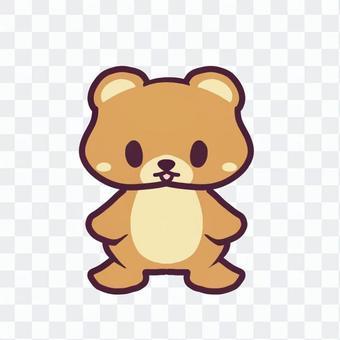かわいいクマのイラスト
