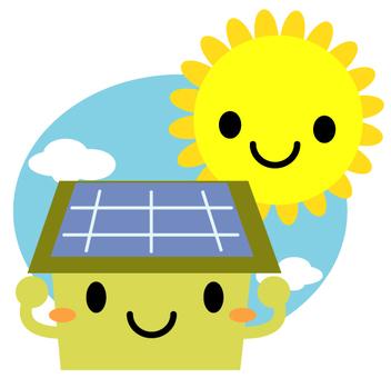 Solar power solar house