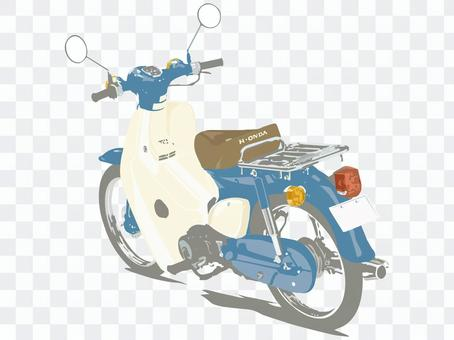 Moped motorcycle blue