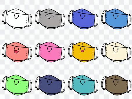 可折疊3D面罩套裝