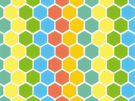 六角形カラフル背景