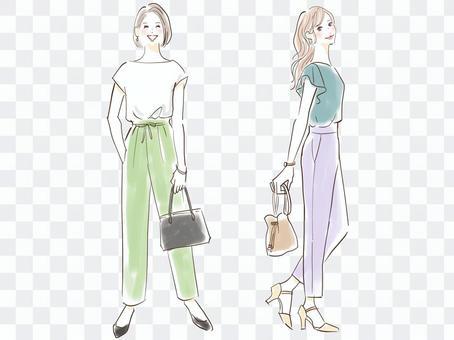 Summer fashion pants style set