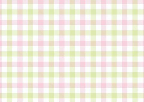 ギンガム<パステル桃×黄緑>