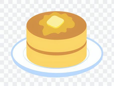 厚いホットケーキ