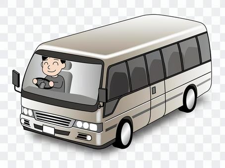 一辆微型公共汽车的例证