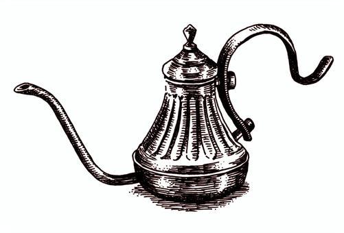 鋼筆劃古董銅鍋