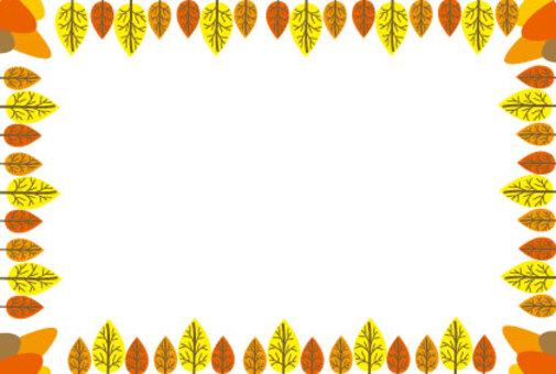 有秋葉的綠樹成蔭的過道框架