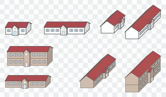 City series Country school / station building