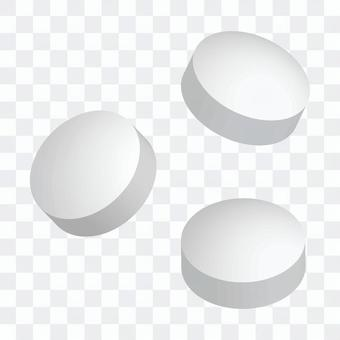 Tablets, tablets (white)