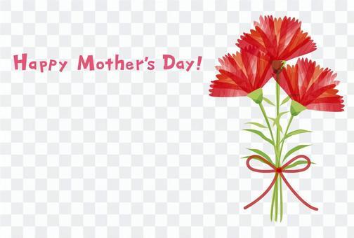母親節標題和花束