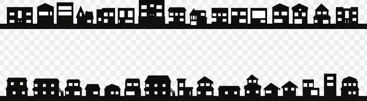 城市景觀影子系列房子